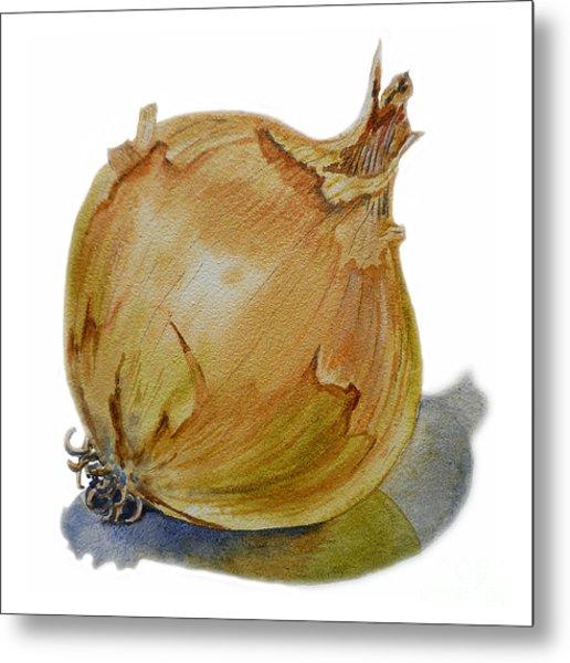 Yellow Onion Metal Print