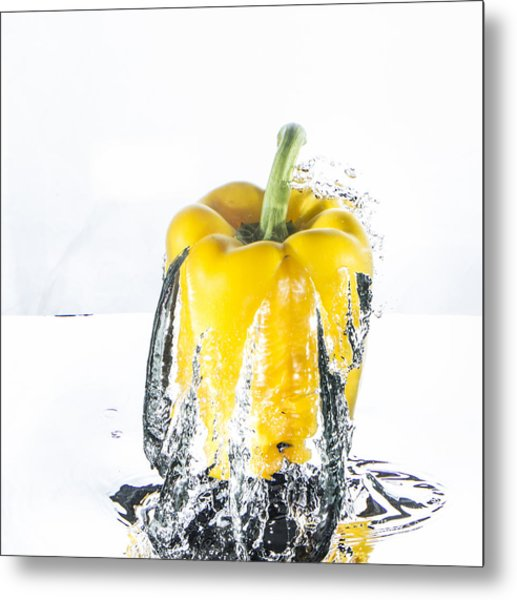 Yellow Pepper Rocket Metal Print