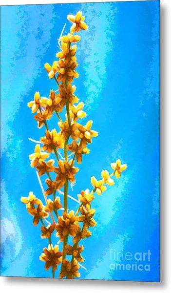 Yellow Plant Metal Print