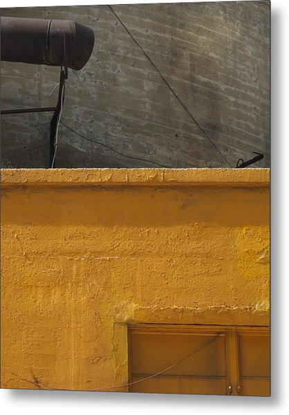 Yellow Storefront Metal Print