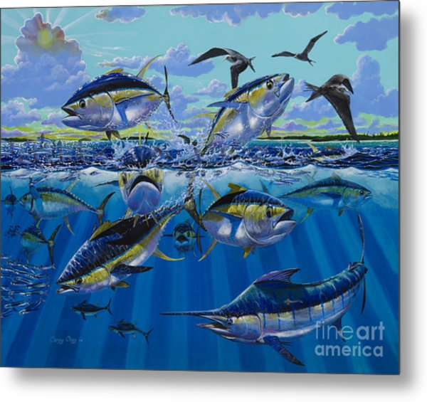 Yellowfin Run Off002 Metal Print