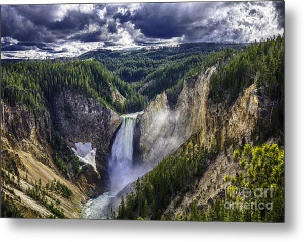Yellowstone Canyon Lower Falls Metal Print
