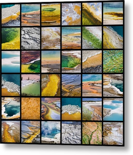 Yellowstone Colors Metal Print