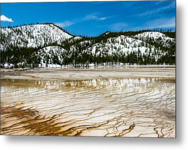 Yellowstone Crackle Metal Print