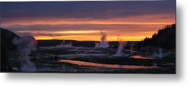 Yellowstone Metal Print by Darryl Wilkinson