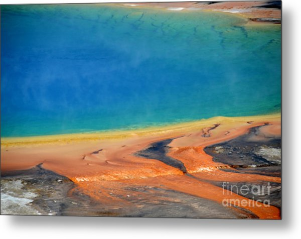 Yellowstone Grand Prismatic Colors Metal Print