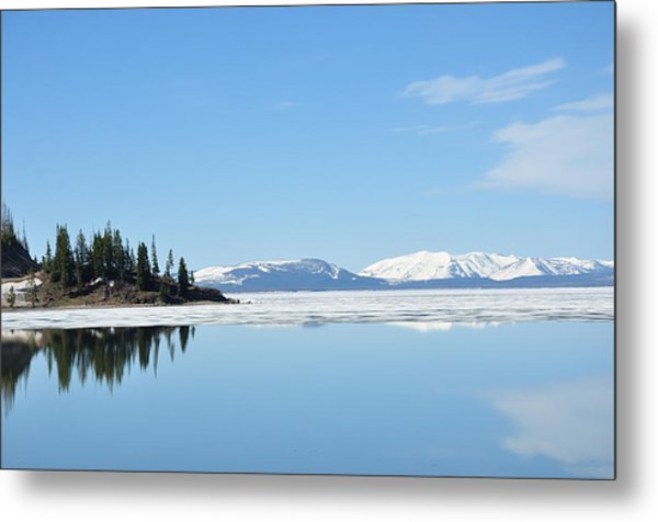 Yellowstone Lake In The Spring Metal Print