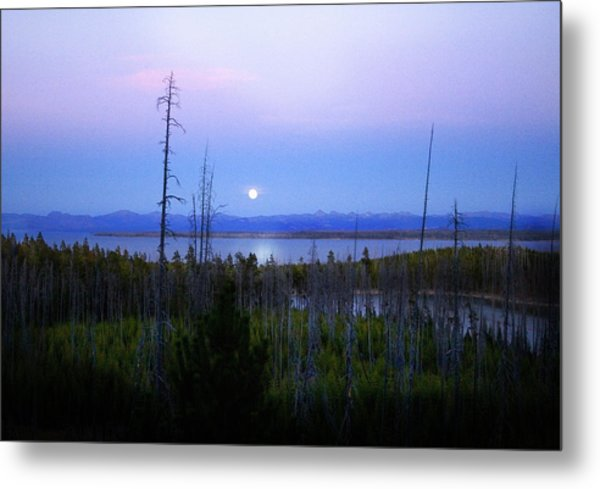 Yellowstone Moon Metal Print