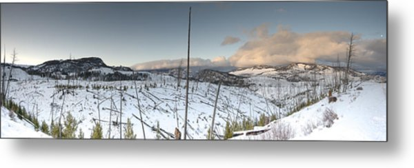 Yellowstone Morning Metal Print by David Yack