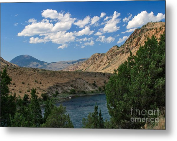 Yellowstone River Overlook Metal Print