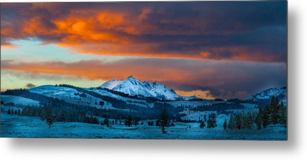 Yellowstone Sunset Metal Print
