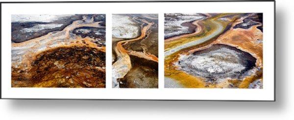 Yellowstone Triptych Metal Print