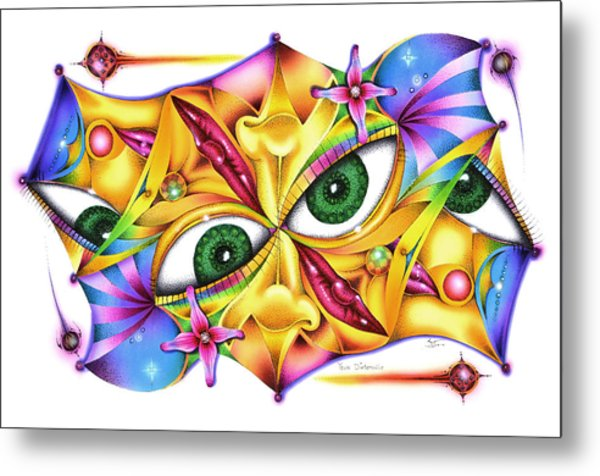 Yeux D'intervalle Metal Print