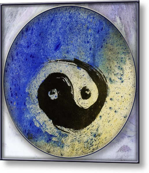 Yin Yang Painting Metal Print