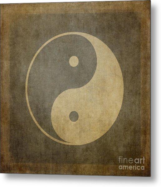 Yin Yang Vintage Metal Print