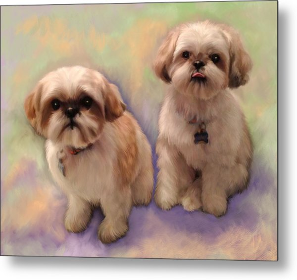 Yogi And Boo Boo Metal Print