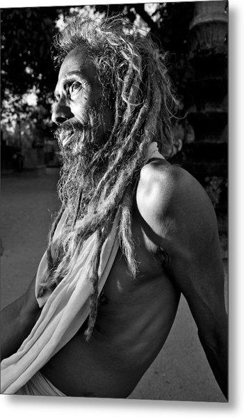 Yogi At Oachira Metal Print