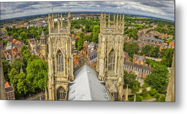 York From York Minster Tower Metal Print