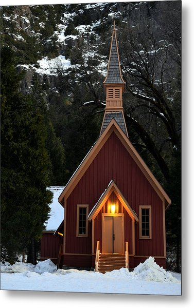 Yosemite Chapel Metal Print