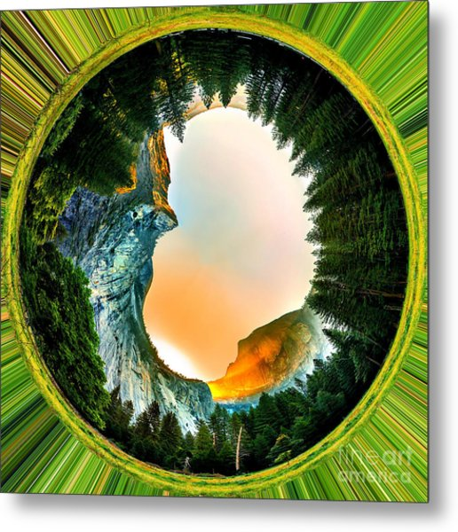 Yosemite Circagraph Metal Print