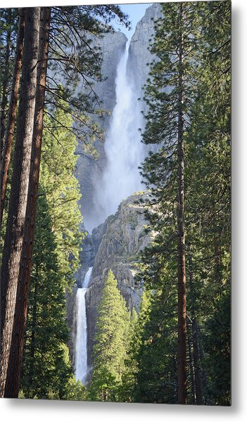Yosemite Falls In Morning Splendor Metal Print