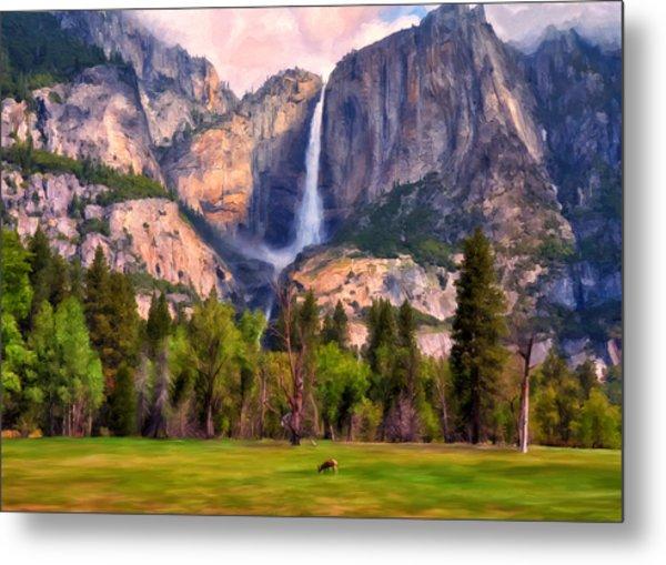 Yosemite Falls Metal Print