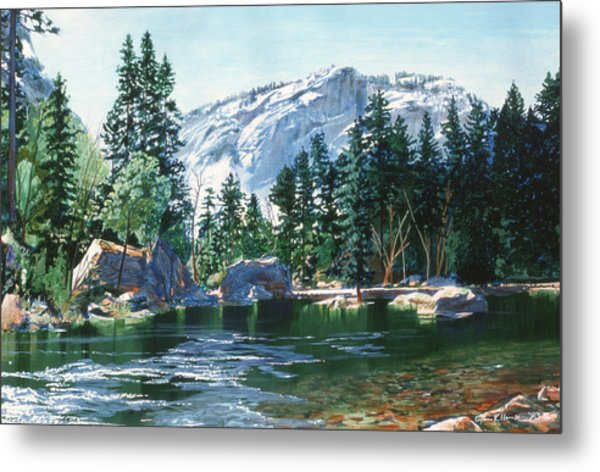 Yosemite Mirror Lake Metal Print