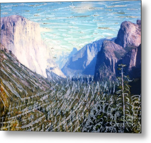 Metal Print featuring the mixed media Yosemite Valley Fun by Glenn McNary