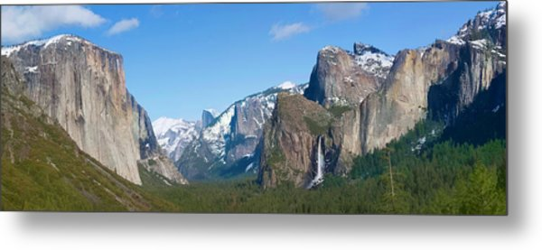 Yosemite Valley Visualized Metal Print