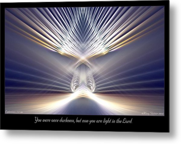 You Are Light Metal Print