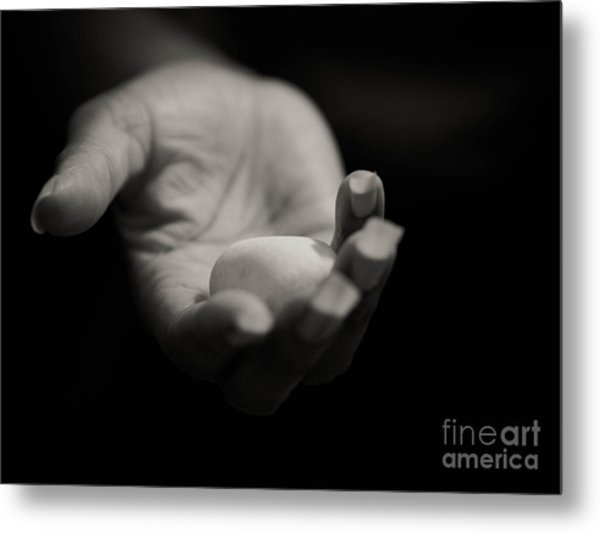 You Are My Rock Metal Print by Valerie Morrison