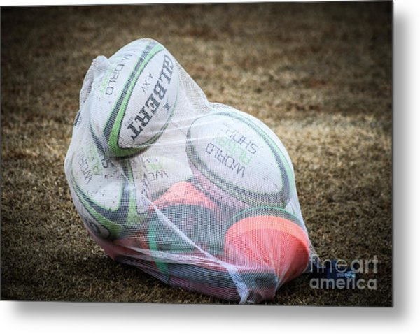 You Gotta Have Balls To Play Rugby Metal Print
