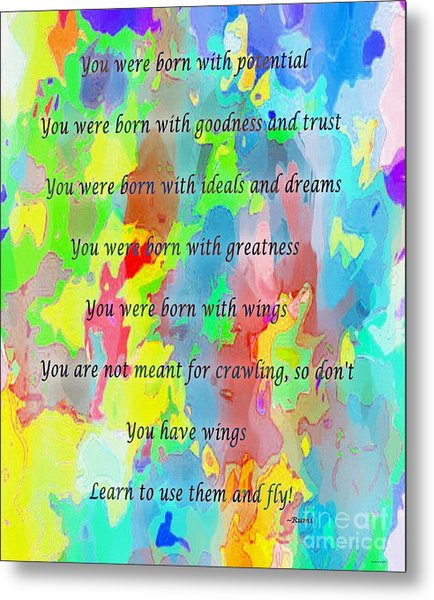 You Have Wings Metal Print