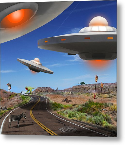 You Never Know What You Will See On Route 66 2 Metal Print