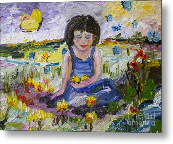You Will Find Me By The Brook Where The Butterflies Live 2 Metal Print by Ginette Callaway