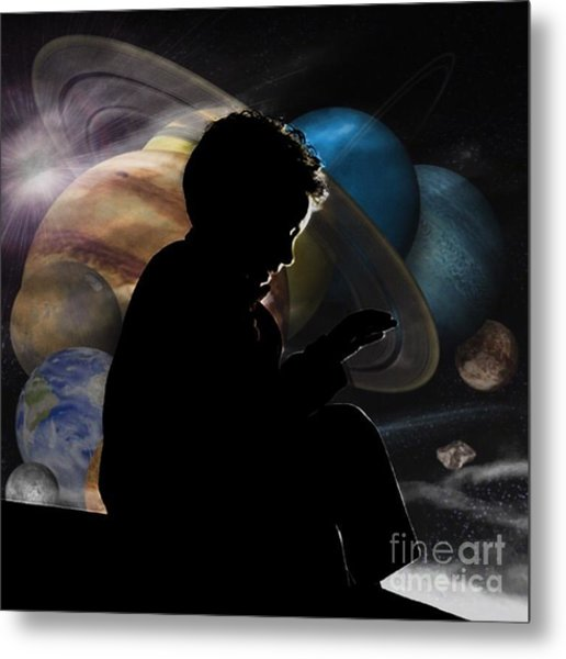 Young Astrophysicist - No.9188 Metal Print