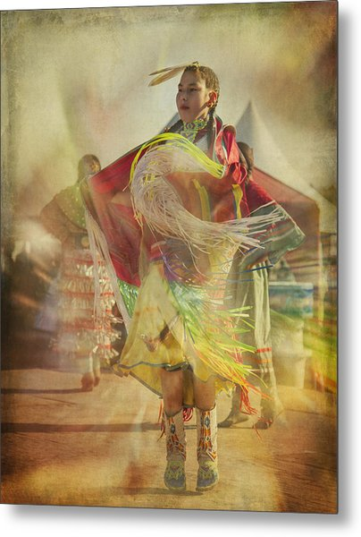 Young Canadian Aboriginal Dancer Metal Print