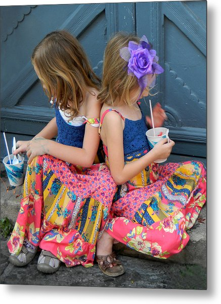 Taking A Break At Mardi Gras Metal Print