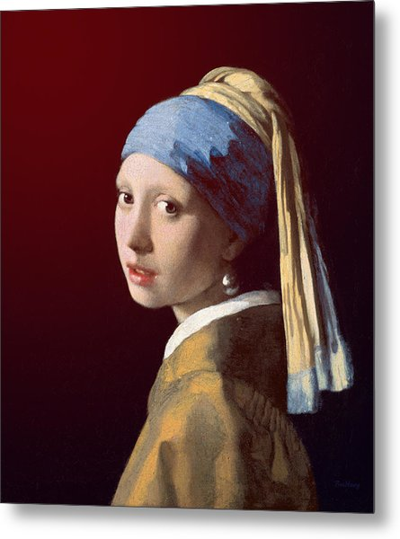 Metal Print featuring the painting Young Lady by David Bridburg