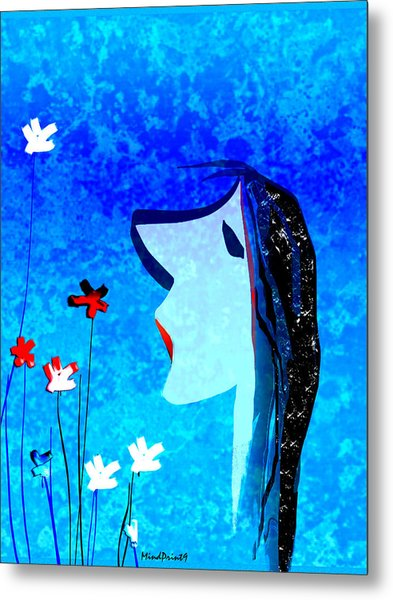 Young Maiden Metal Print