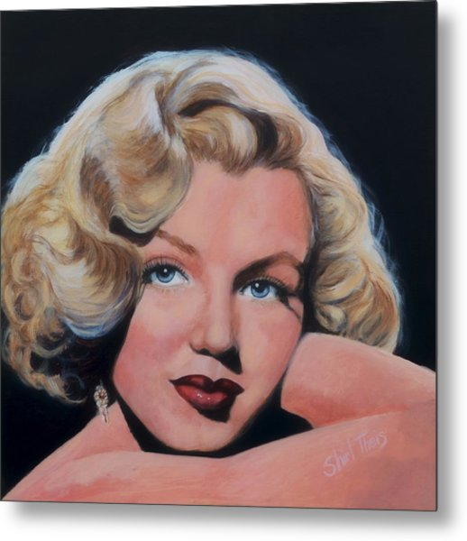 Young Marilyn Metal Print by Shirl Theis