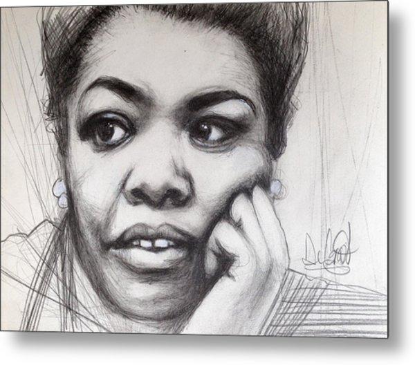 Young Maya Angelou Metal Print