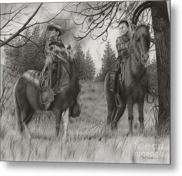 Young Rough Riders Metal Print