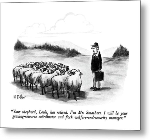Your Shepherd Metal Print