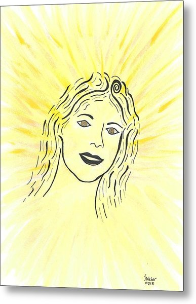 Your Spirit Shines On Metal Print