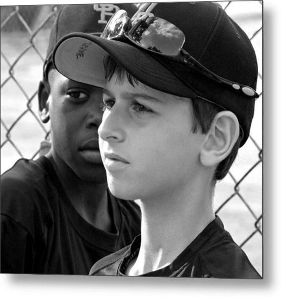 Youth Baseball 3 Metal Print