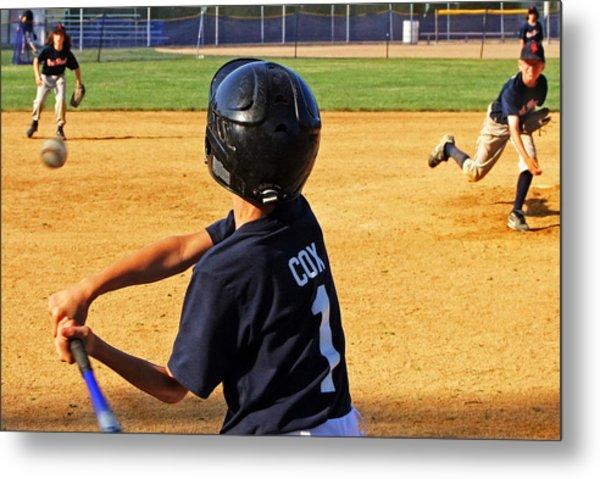 Youth Baseball Metal Print