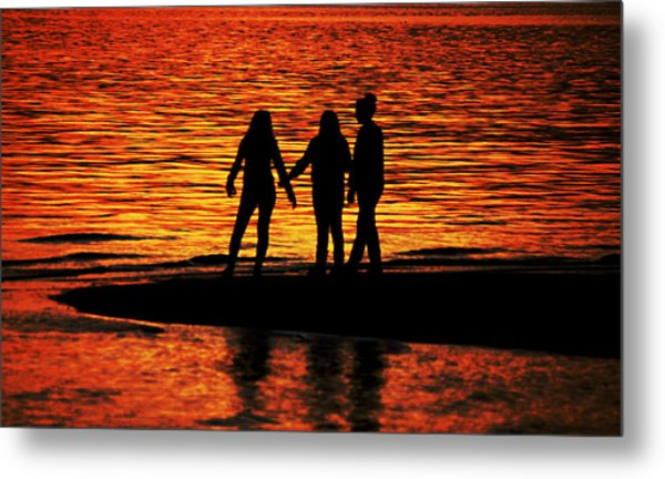Youthful Friendships Metal Print