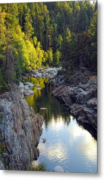 Yuba River Twilight Metal Print