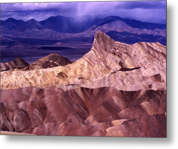 Zabriskie Point Death Valley National Park Metal Print